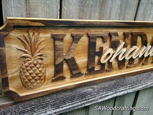 Hawaiian Ohana Family Wedding Gift, Hawaiian Last Name sign