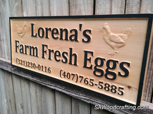Custom Cedar Outdoor Farm Business Sign