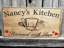 Load image into Gallery viewer, Custom made wooden signs for the Chef's kitchen