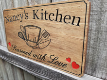 Load image into Gallery viewer, Personalized Chefs Kitchen Wood Name sign