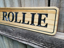 Load image into Gallery viewer, Personalized Solid Wood Horse Name Plate