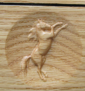 3D carved Horse stall sign graphics of a Rearing Horse.