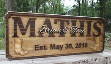 Load image into Gallery viewer, Rustic Personalized Cowboy Name Plaque