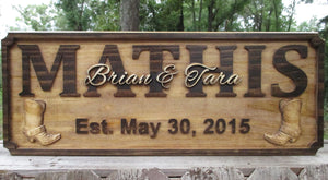 Rustic Personalized Cowboy Name Plaque