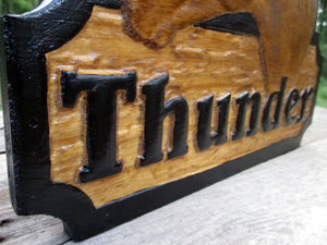 Personalized 3D Horse Stall Name Sign, Custom Horse Tack, 3D Wood Carved Barn Stable Plaque