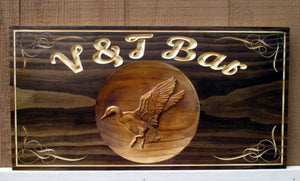 Personalized Duck Hunter Bar and Pub Name sign