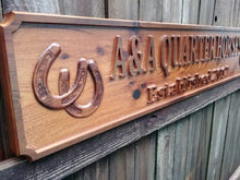 Load image into Gallery viewer, Large Custom Cedar Outdoor Farm and Ranch All Weather 4 foot Name sign