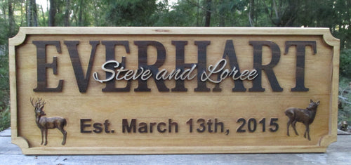 Personalized Wedding Gift Deer Buck