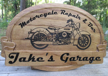 Load image into Gallery viewer, Personalized Biker Bar Motorcycle Name sign