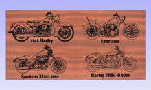 Load image into Gallery viewer, Personalized Wedding Anniversary wooden Gift sign with Harley Davidson motorcycle