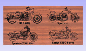 Custom Wood Biker Bar Motorcycle Name sign