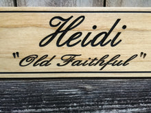 Load image into Gallery viewer, Personalized Solid Pine Wooden Horse Name Plate