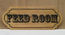 Load image into Gallery viewer, Custom wooden Horse Stable Feed Room sign, Tack Room sign, Barn Office sign