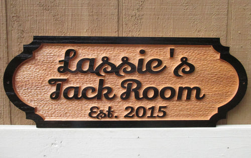 Horse Barn Tack Room Sign