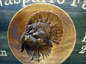 Turkey Hunter Family Name Sign