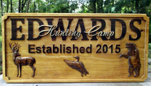 Load image into Gallery viewer, Personalized Hunt Cabin Family Name Plaque
