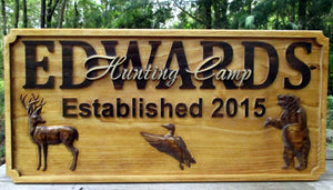 Personalized Hunt Cabin Family Name Plaque