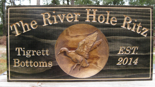 Personalized Duck Hunting Camp Name Sign
