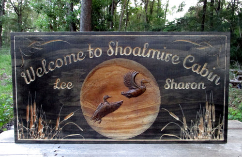 Personalized Hunting Cabin Name Sign