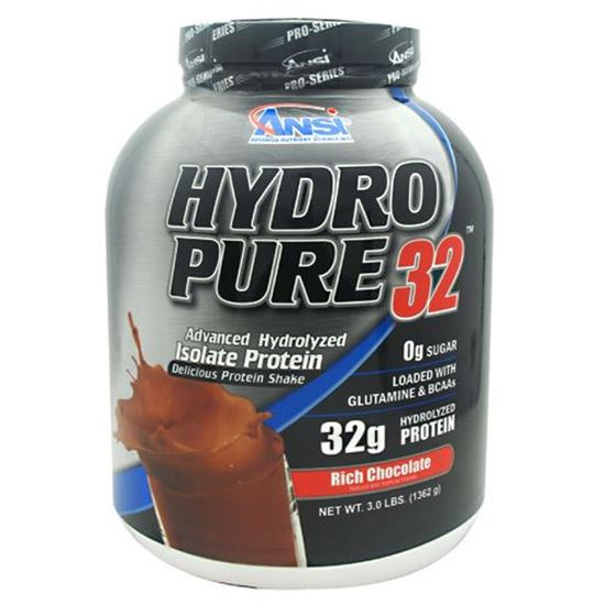 Nutrient Science Hydro Pure 32 Rich Chocolate 3 lb Protein Supplement