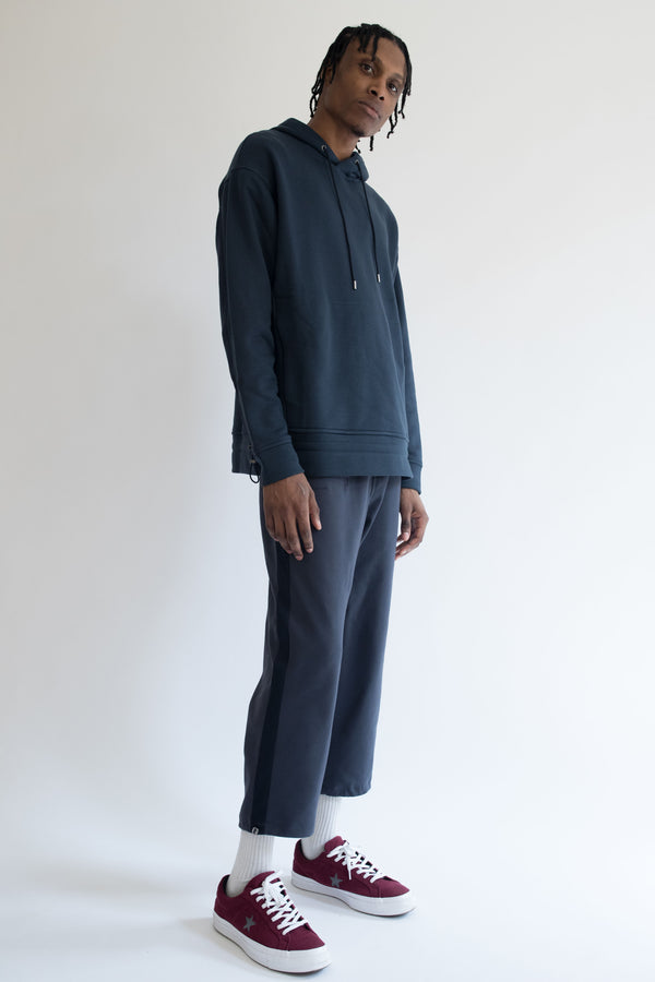 Grosgrain Hoodie in Navy with Navy Details
