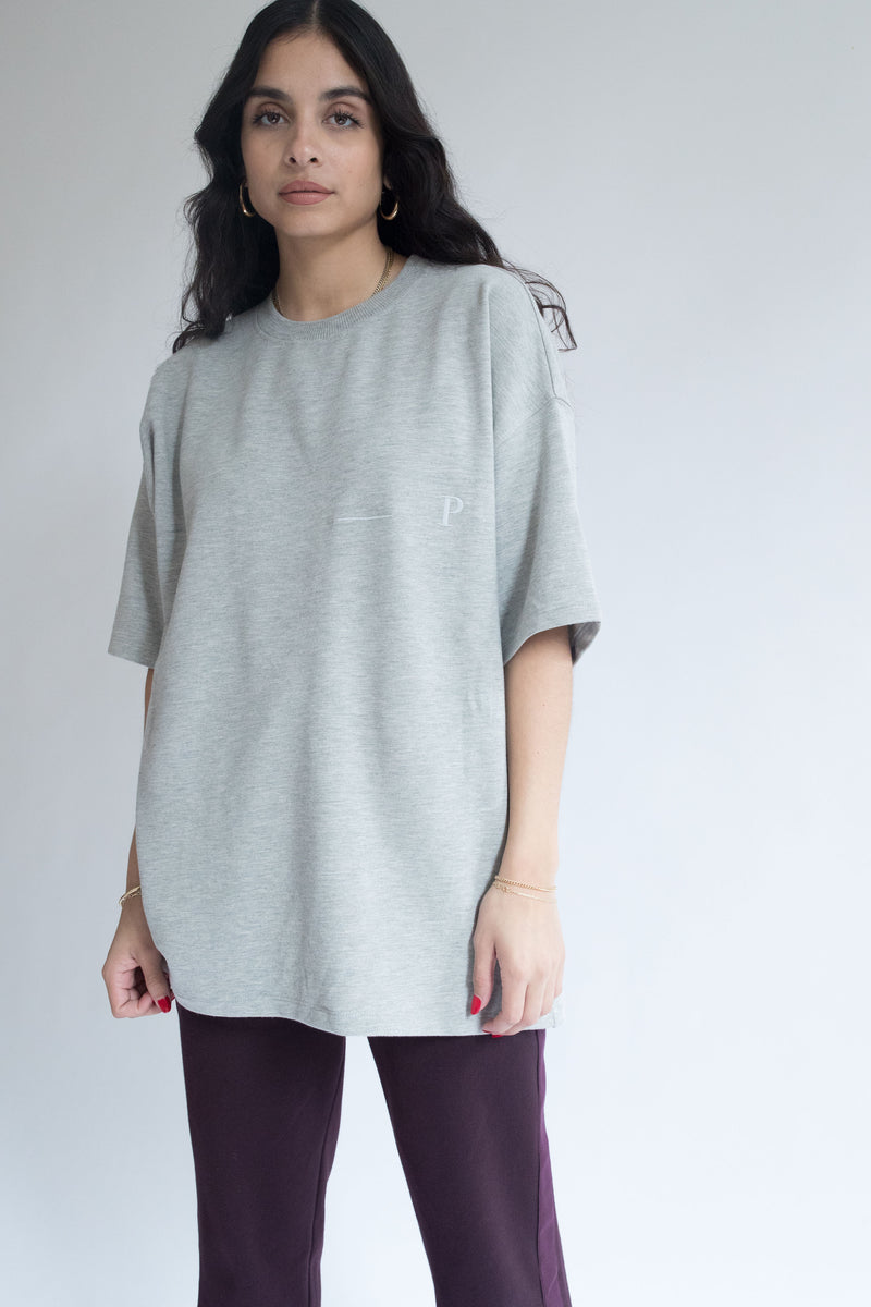 Heavyweight Oversize Tee in Gray
