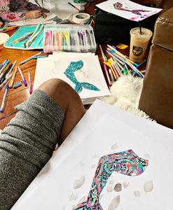 Rainbow Mosaic Mermaid Tail