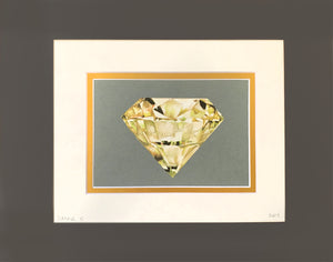 Yellow Gem- Double Matted