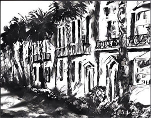 Rainbow Row Print Black & White