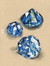 NEW Cool Tone Gemstone Trio- Blue, Nuetral, Green- all 3 for $289