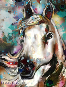"""Country Cover Girl"" Horse Print"