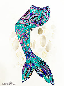 Emerald Mosaic Mermaid Tail