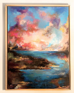 """Cotton Candy Sky"" Original on Canvas"