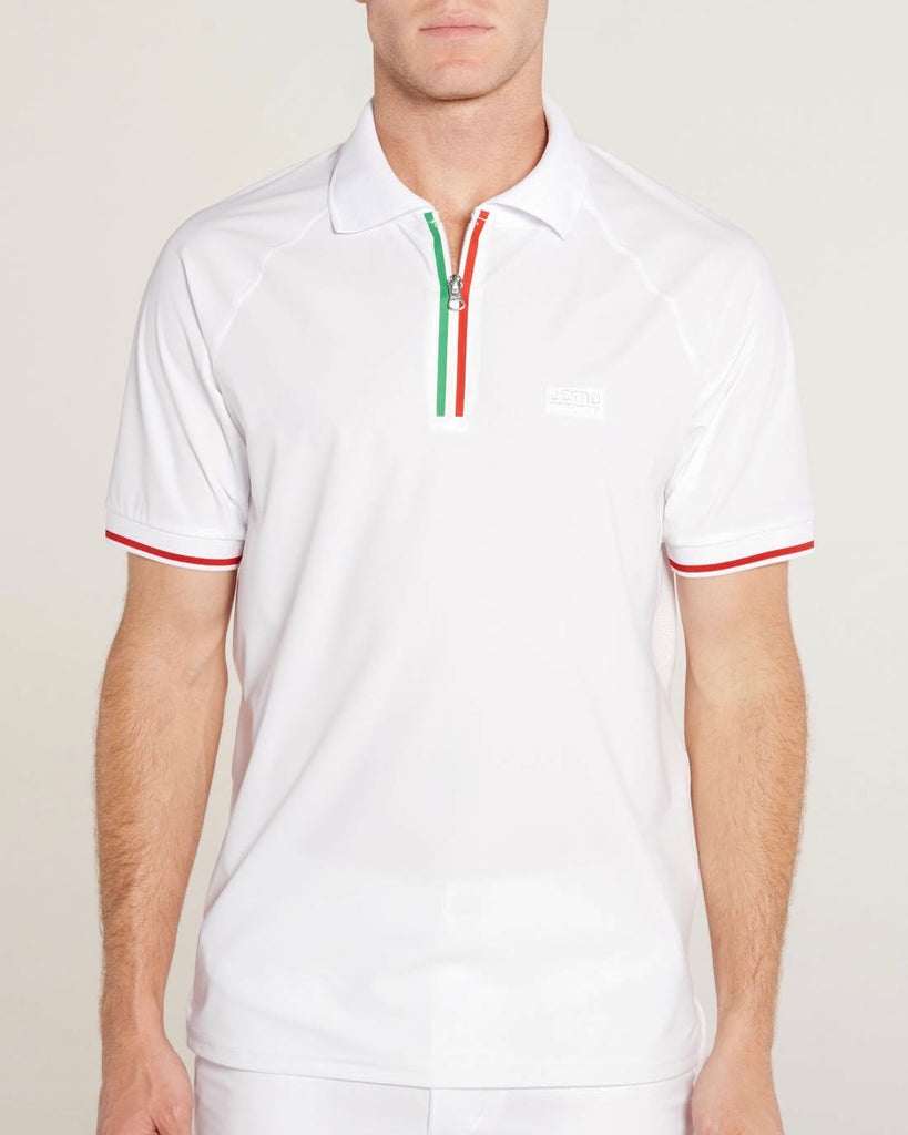 Bianco Fatto di Italia Flag Zipper Polo - Vol. II