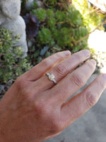 Platinum Edwardian - Deco old mine cut Diamond engagement Ring