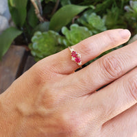 Victorian Ruby & Diamond estate ring
