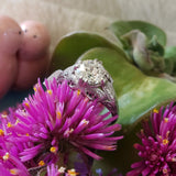 Platinum Edwardian Filigree diamond antique solitaire ring