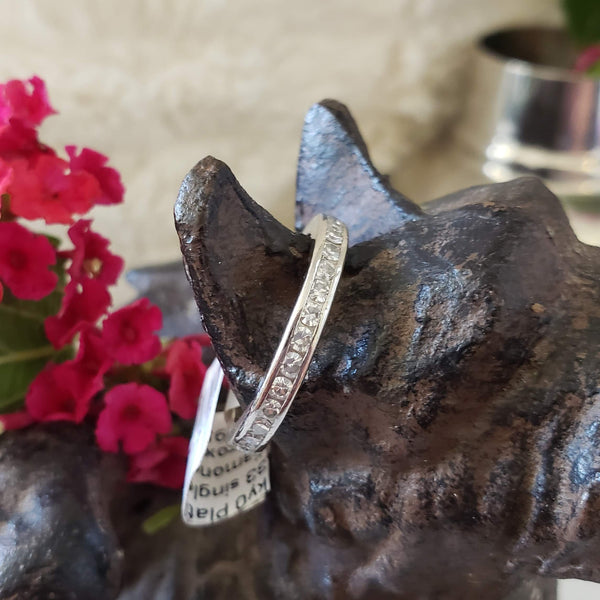 Platinum estate Diamond Eternity band SIZE 5.75