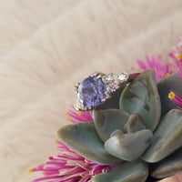 Platinum Deco sapphire & diamond estate  ring