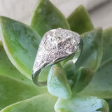 Platinum Art Deco c.20s - 30s diamond ring