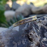 14k yellow gold 9 baguette diamond estate band