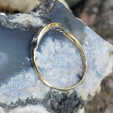 14k gold two tone 6 diamond estate curved band