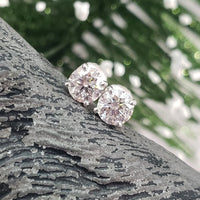 14k white gold diamond studs earrings - 1.03ct tw