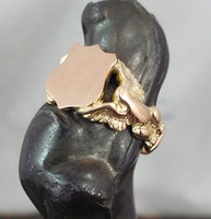 10k yellow gold estate eagle SIGNET ring