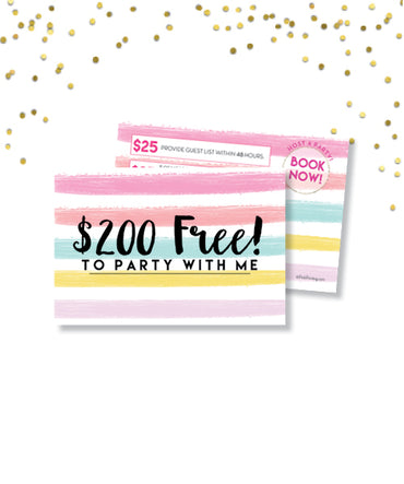 $200 Free To Party With Me! Postcard