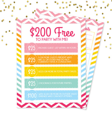 Party with Me Hostess Pack - 200 Free when you party with me