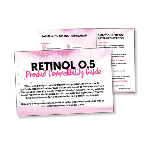 CS Retinol 0.5 Products NOT to use Card