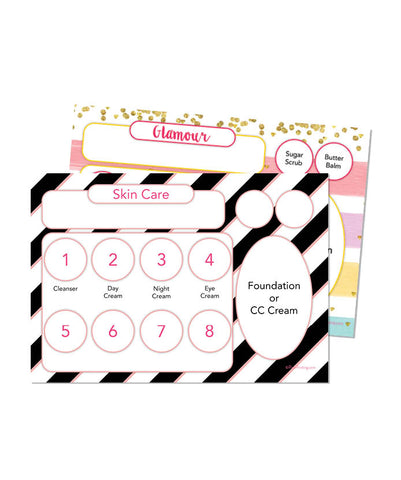Skincare/Glamour Tray Insert (BLACK AND WHITE/GLAMOUR STRIPES)