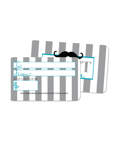Mustache Blank Gift Card
