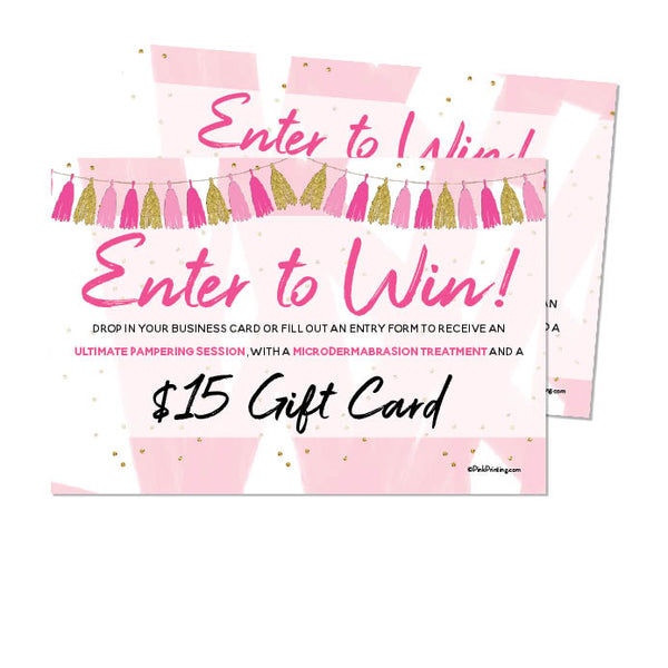 Enter to Win (Facial Box Insert)